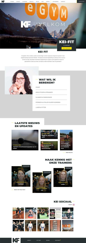 Kei Fit website voorbeeld op dekstop formaat