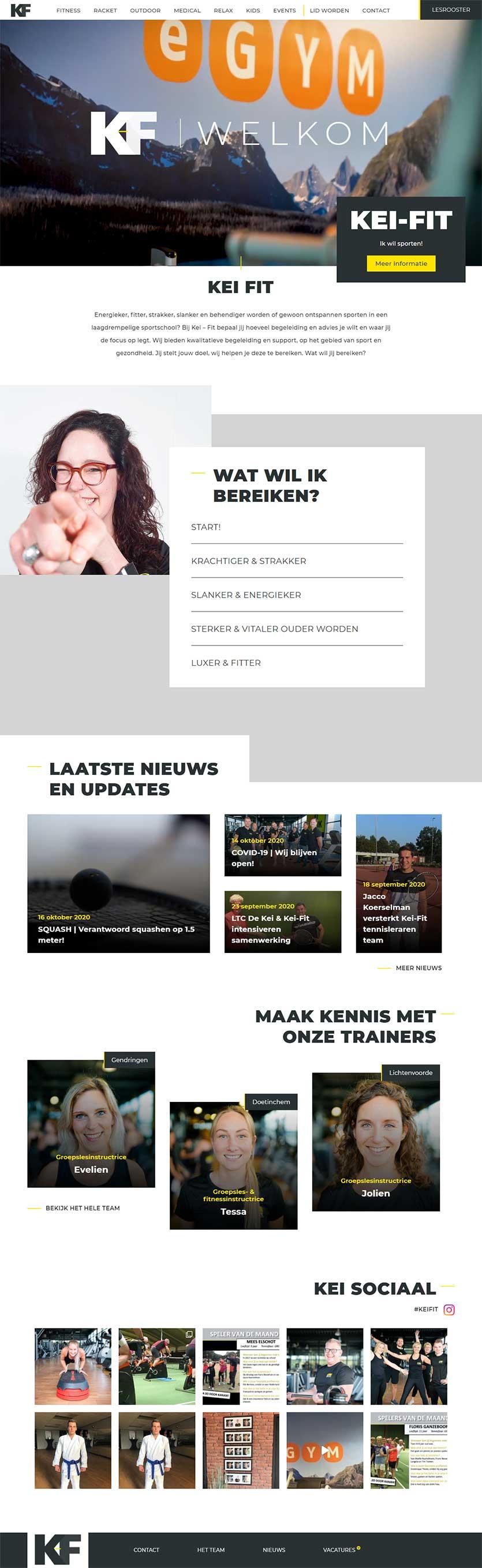Kei Fit website voorbeeld op laptop formaat