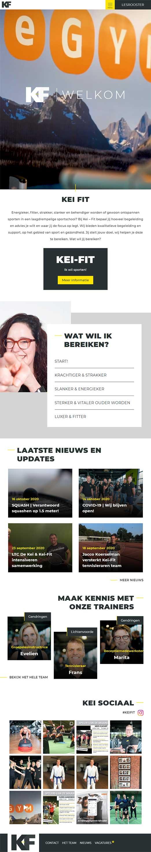 Kei Fit website voorbeeld op tablets