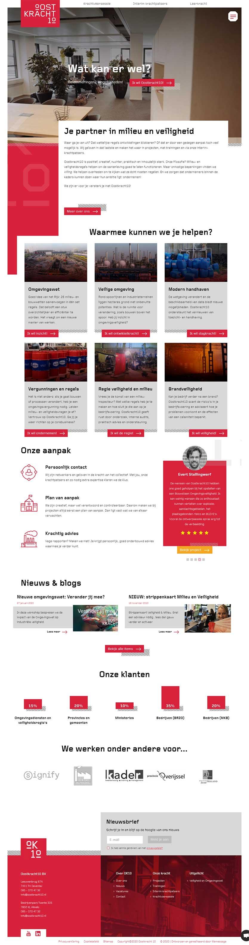 Oostkracht10 website voorbeeld op laptops