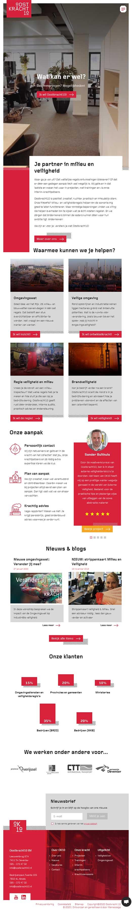 Oostkracht10 website voorbeeld op tablets