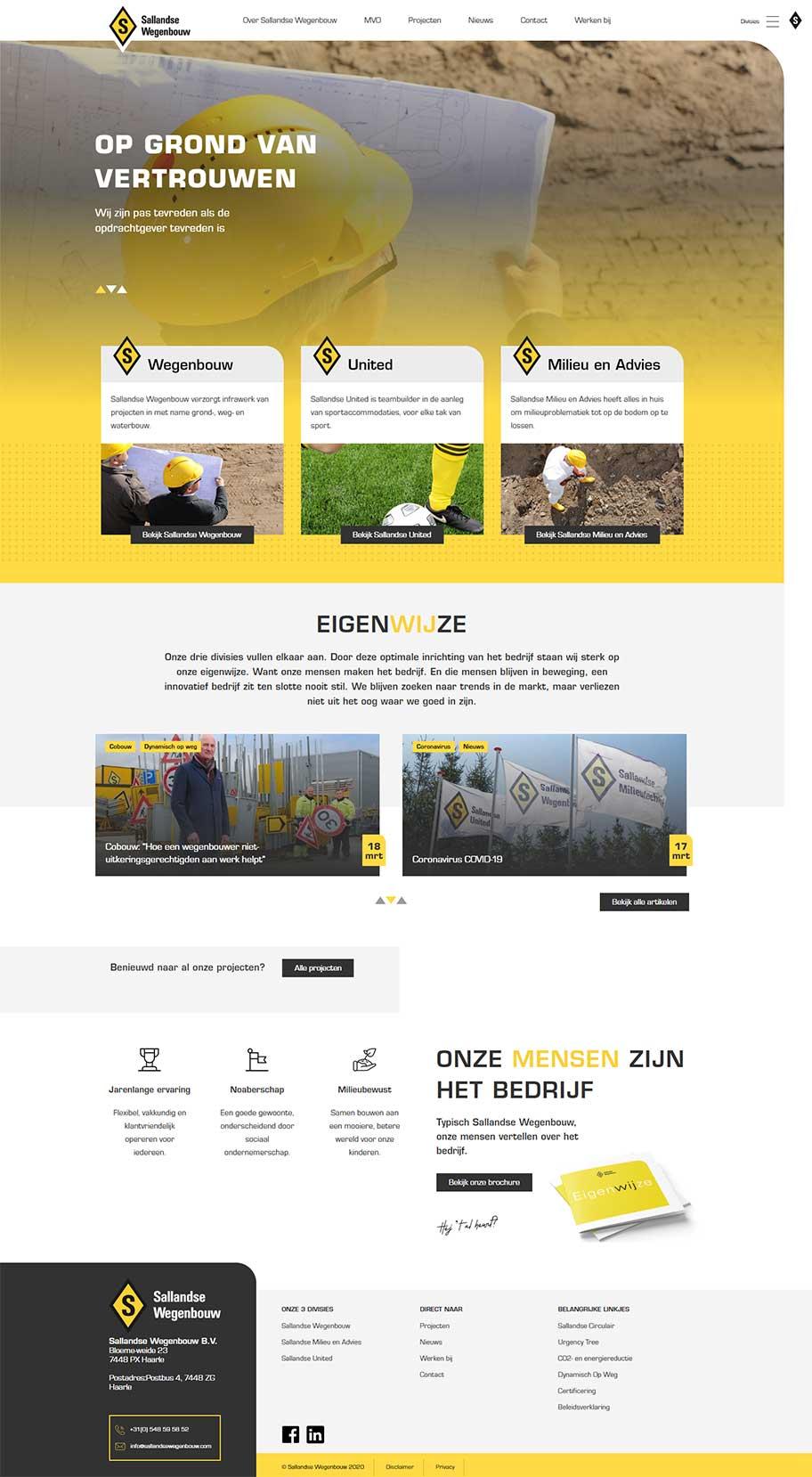 Sallandse Wegenbouw voorbeeld op desktop formaat